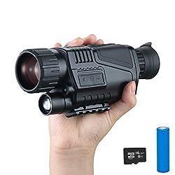 SUNTEKCAM Night Vision Monocular, Digital Night Vision Monocular, 5x8 Digital Night Vision HD Scopes for Outdoor/Hunting/Observing - Card Reader Included