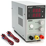 Variable DC Power Supply(0-30 V 0-10 A),IPSXP KPS1203D Adjustable Switching Regulated Power Supply Digital,with Alligator Leads US Power Cord