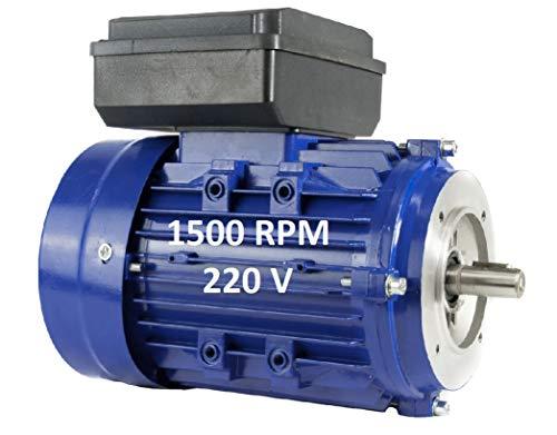 MOTOR ELECTRICO MONOFASICO 0,37KW / 0,5CV 220V 1500RPM B14 (BRIDA 105mm) TAMAÑO...
