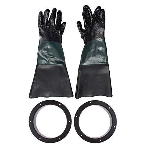EIN Paar Sandstrahlhandschuhe mit Einer Länge von 24 Zoll und 210 mm Halterungen für den Austausch von Sandstrahlschränken