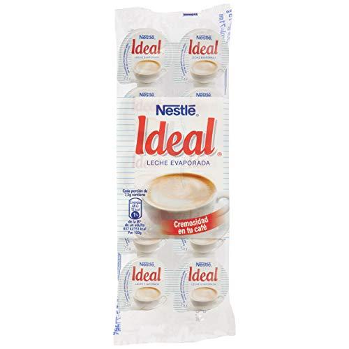 Nestlé Ideal - Leche evaporada semidesnatada en porciones - Caja de leche evaporada 24 x 10 x 0.075 g