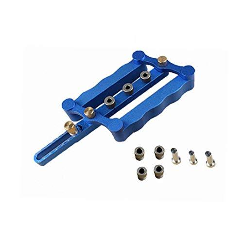 Holzverarbeitung Schlags Locator, Rund Logmer Schlags Möbel Lochungen Öffner (Farbe: blau)