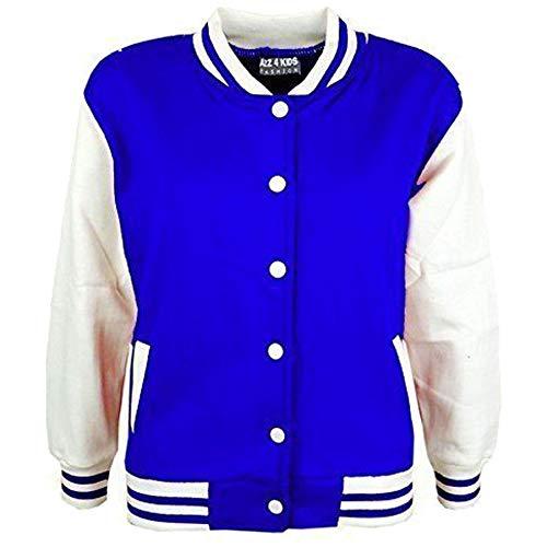 A2Z 4 Kids® Kinder Mädchen Jungen BASEBALL JACKE VARSITY Stil Mode Einfach SCHULE JACKEN TOP Alter 5-13 Jahre