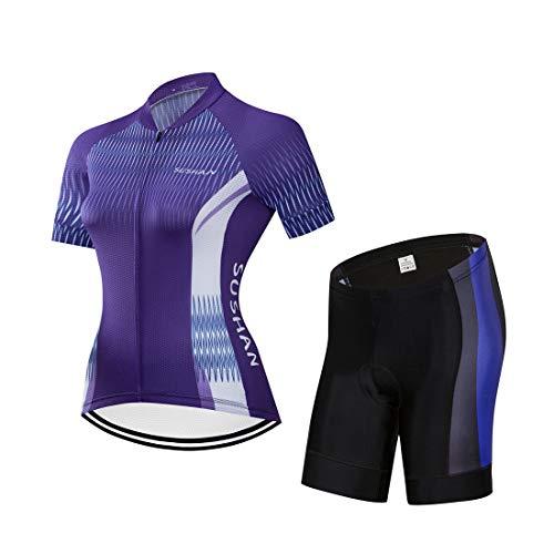 X-Labor Maillot de ciclismo para mujer de secado rápido, camiseta de manga...