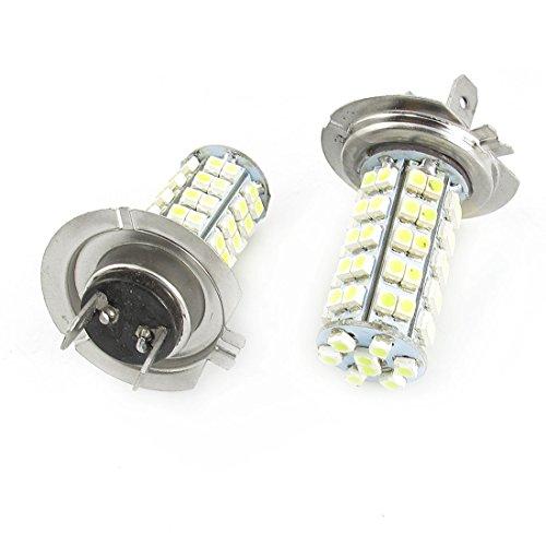 sourcingmap Paire - 1210 SMD 68 LED Feux phare avant H7 Ampoule Lampe de rechange 12 V