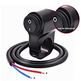 WATERPROOF SOLID AL ALLOY IP68 Toggle Switches for Motorcycle Handlebar, Ourbest 12V Dirt Bike Light Switch for Motorbike Spotlight- Fits 7/8' Handlebars