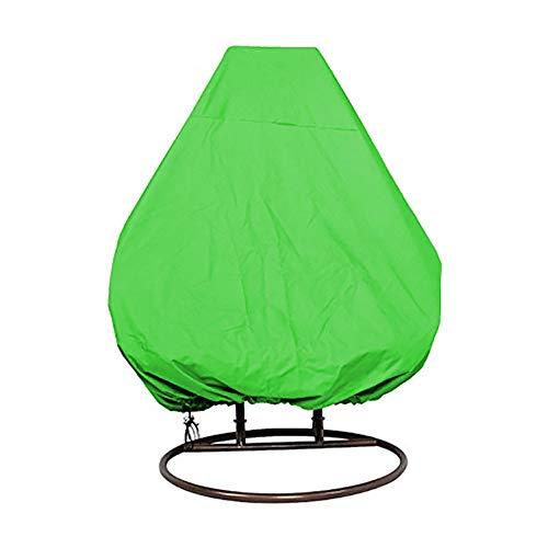 Ohne Markenzeichen Hängesessel Abdeckung for Doppel Egg Chair Pod Stuhl 2 Person Außenterrasse Garten Hänge Schaukel Stuhl Abdeckung Wasserdicht 0314 (Color : Green)