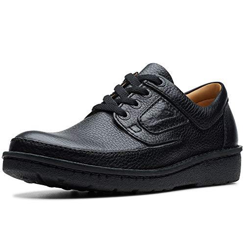 Clarks Nature II Men's Wide Fit Lace Up Shoes 41.5 EU Schwarz