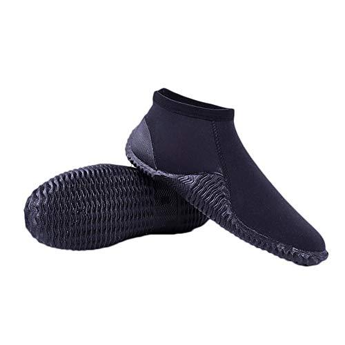 Kentop Chaussures de Sports Aquatiques Chaussons de Plage Short Bottillons de Plongée Soulier pour Surf, Bateau à Moteur, Sports de Plage, Pêche, Reef, Coral - Épaisses, Respirant et Adhérente