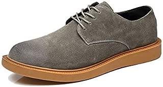 JAUROUXIYUJI Men's Genuine Leather Shoes Men Fashion Shoes Four Seasons Shoes (Color : Green, Size : 39 EU)