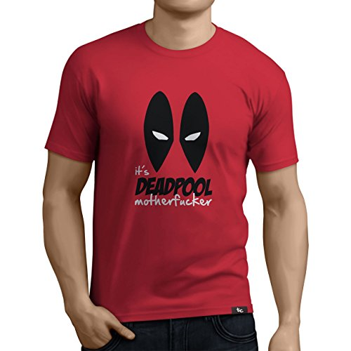 Tuning Camisetas - Camiseta Divertida para Hombre, Color Deadpool- Talla M (0272-Deadpool-M)