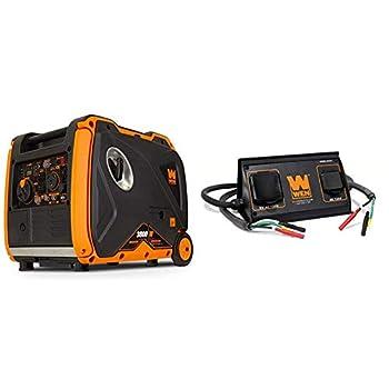 WEN 56380i Super Quiet 3800-Watt Portable Inverter Generator with Fuel Shut-Off and Electric Start & 56421 30-Amp 3600-Watt Parallel Connection Kit for Inverter Generators