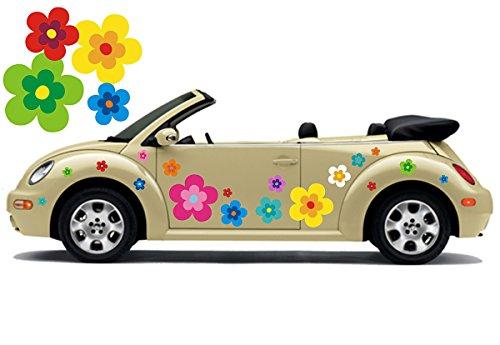 Hippie Blumen Aufkleber, Autoaufkleber Hippie 039 - bunt gemischt (8)