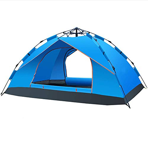 Lightweight Tent,Pop Up Camping Tent for 3 to 4 Person Automatic Opening Hydraulic Double Layer Tent 100% waterproof Easy to Set up