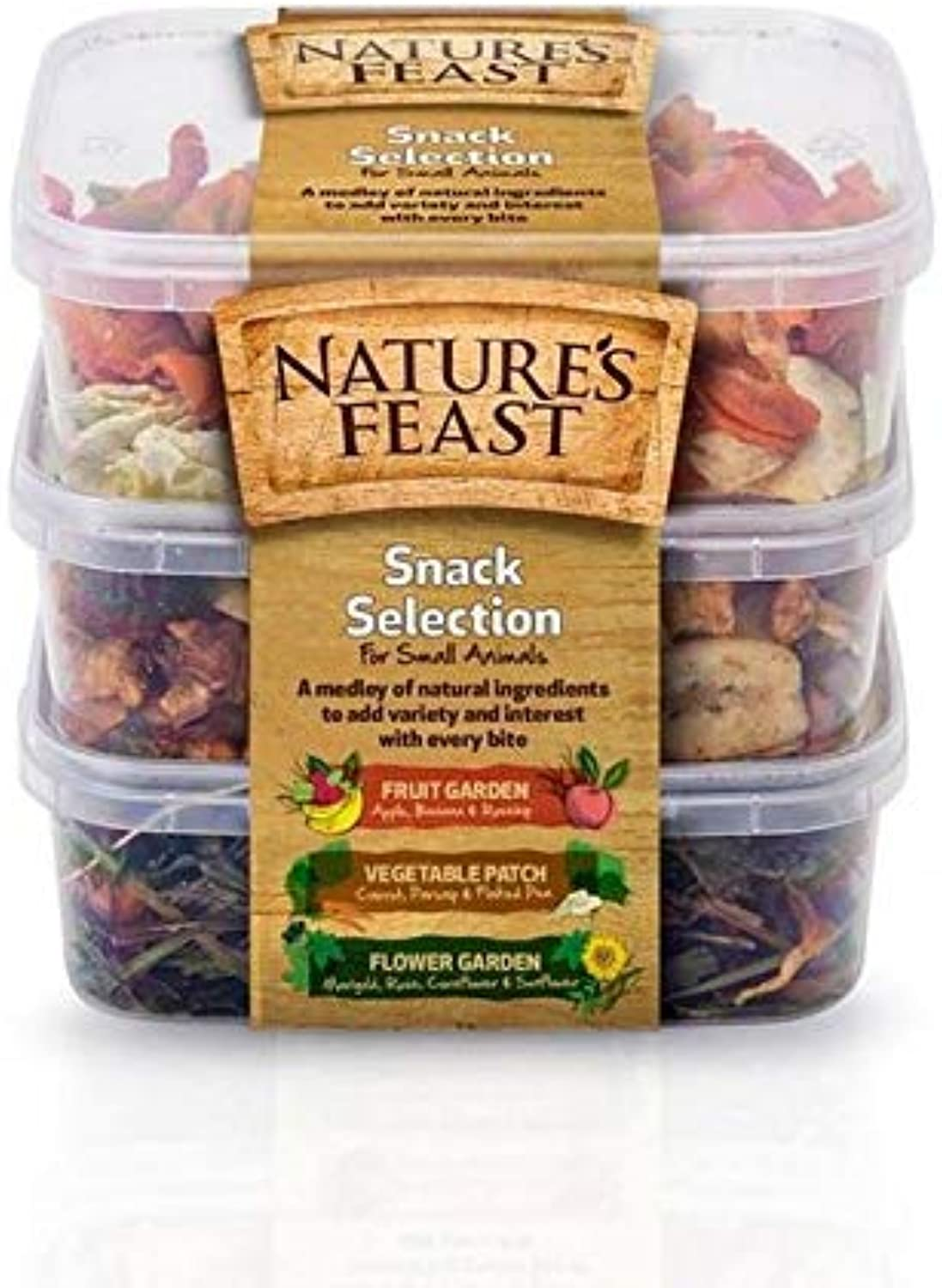 4X Natures Feast Snack Selection for Small Animals 175g