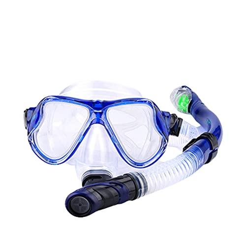 GQTYBZ Conjunto de Snorkel MáScara de Buceo con EsnóRquel Antivaho con Tubos De RespiracióN Libres Mejorados EsnóRquel con Tapa Seca Antifugas para Adultos y JóVenes