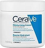CeraVe, Crema Idratante, 454g / 16oz, Crema idratante quotidiana per viso, corpo e mani per un'idratazione istantanea e duratura