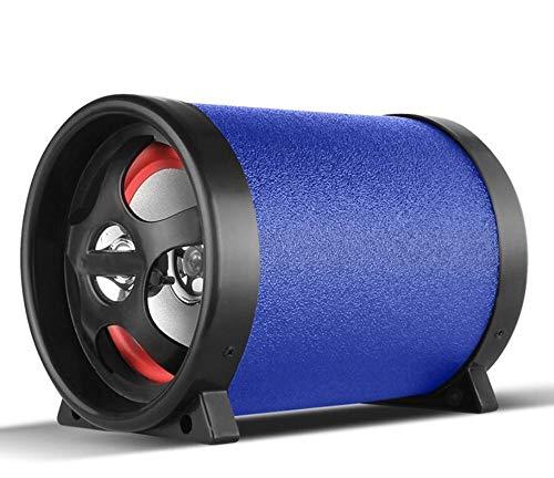LALAWO Laute Lautstärke, 12V 220V 100W Auto Subwoofer Bluetooth Bass-Sound-Lautsprecher for Auto/Motorrad/Heim/Computer Gute Klangqualität