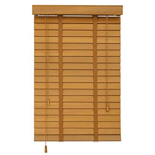 Jalousien 60cm / 80cm / 100cm / 120cm / 140cm Breite Holzjalousien Für Fenster - Einfache Innenmontage, Raumverdunkelung Mini-Blindband 50mm Lamellen (Size : 60x200cm)