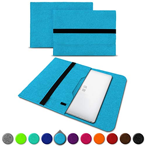 UC-Express Sleeve Hülle Trekstor Surfbook W1 W2 Tasche Filz Notebook Cover 14,1 Laptop Case, Farbe:Türkis