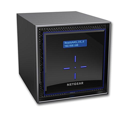 Netgear RN424D4-100NES ReadyNAS Serie 424 Storage di Rete, 4 Slot Inclusi 4 HD da 4TB, Capacità 40TB, Backup Sicuro, Antivirus, Accesso e Gestione Tramite Cloud, Nero