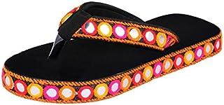 HD Women Black Jodhpuri Stylish Slipper