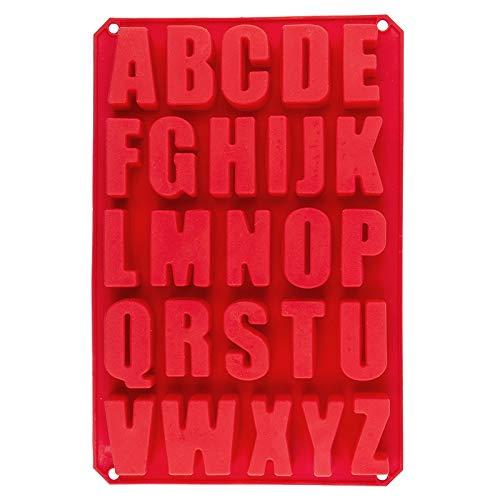 Silikonform, Buchstaben, A bis Z, Form 33,5cm x 22,5cm, 2,6cm hoch, 26 Buchstaben, Höhe je: 5,3cm