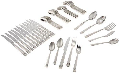 Reed & Barton 4150865 Longwood II 65pc Flatware Set, 65 Piece, Silver