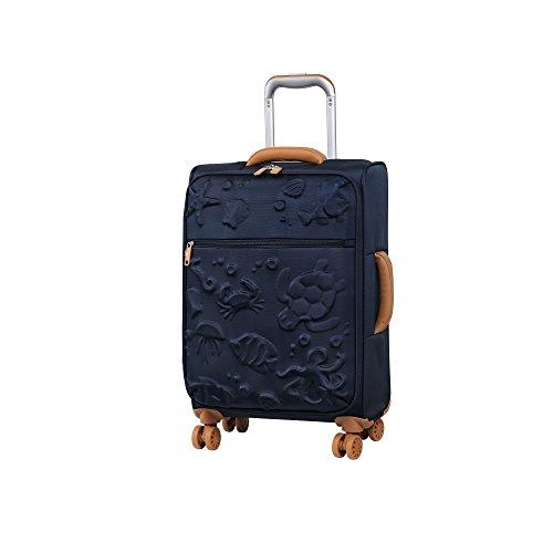 it luggage Aquatic 8 Wheel Lightweight Semi Expander Cabin Suitcase, 56 cm, 47 L, Black Iris