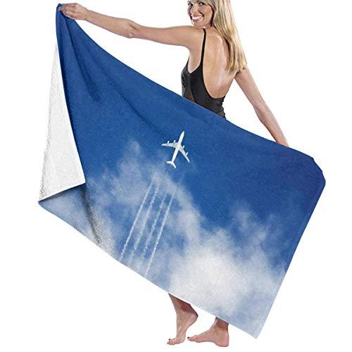 asdew987 Toallas de playa para mujeres y hombres, aeronaves en el cielo, toallas de baño de secado rápido, multiusos, manta grande de 31 x 51 pulgadas