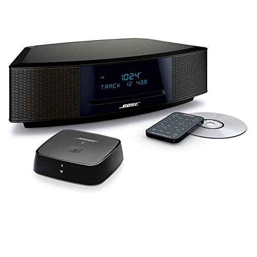 Bose Wave Music System IV Bundle with Bluetooth Soundtouch Wireless Adapter- Espresso Black (Renewed)