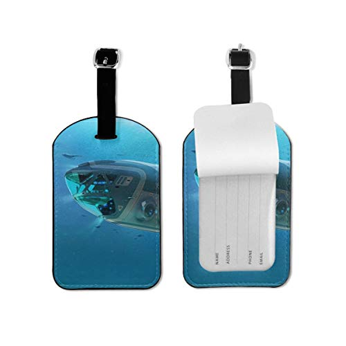 Video Game Subnautica Luggage Tag Travel ID Identification Labels Set For Bags With Full Privacy Cover Business Card Holder For Trunk Information Address ID Label Accessories