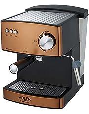 Adler ekspres do kawy z ciśnieniem 15 bar i 850 W Power AD 4404cr, miedź