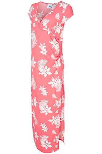 Mamalicious Mlhawai S/s Jersey Maxi A Robe de Maternité Multicolore (Sunkist Coral), 36 (Taille Fabricant: Small) Femme