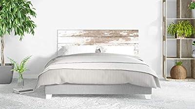 Cabecero fabricado en PVC espumado con impresión directa UVI. Decoración de habitaciones Cabecero ecónomico ideal para decoración de habitaciones Fácil colocación, resistente, ligero, aislante y de larga durabilidad Medidas: 135 cm de largo x 60 cm d...