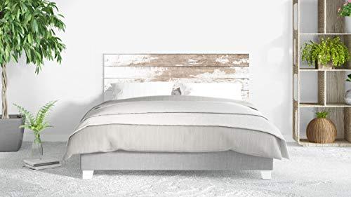 Cabecero Cama PVC Impresión Digital sin Relieve Imitación Madera 135 x 60 cm | Disponible en Varias Medidas | Cabecero Ligero, Elegante, Resistente y Económico