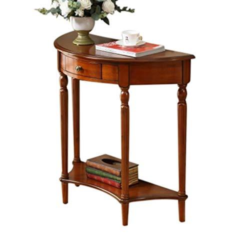 Unbekannt Accent Tisch for kleinen Raum, Heimkonsole, Sofa, Tisch, mit Schublade, Eintrag Weg Konsolentisch, Couchtisch, Braun