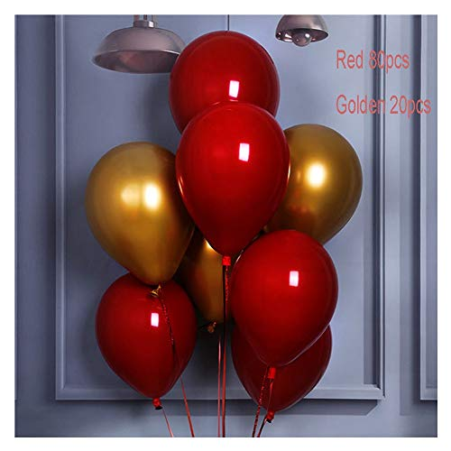 WHAIYAO Balloons Arch Garland Kit, Ruby Red Latex Balloons Decoration for Girl Women Birthday Wedding Christmas Party Supplies (Color : B)
