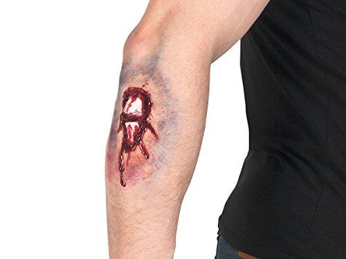 Cicatrice Ferita Finta Adesivo Lattice per Trucco Travestimento Costume Halloween Carnevale Serata Festa a Tema Orrore, 72207 frattura delle Ossa ferita