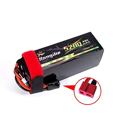 Hootracker RC Battery 5200 mAh 7.4 V 2S 60C LiPo Battery with Deans T Plug for RC Car Buggy Truck