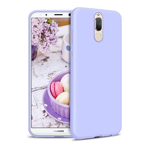 Funda para Huawei Mate 10 Lite Carcasa Silicona Huawei Mate 10 Lite, Silicona Gel TPU Case Goma Colores del Caramelo Anti-Rasguño Resistente Ultra Suave Protectora Caso - Morado Claro