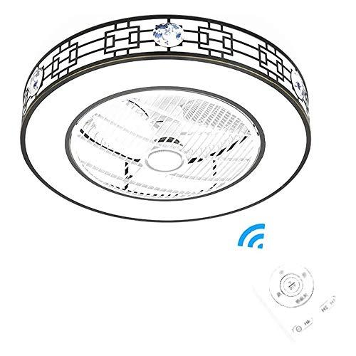 QIYUE Decken-Lampe mit Ventilator, Modern Minimalist Mit Lampe und Fernbedienung Ventilator Decken-Lampe mit Ventilator Flüsterleises Energiesparventilator Deckenleuchte im Schlafzimmer Zimmer