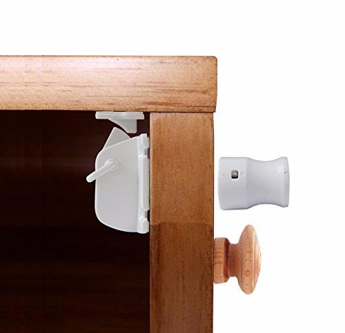 Meilleures Serrures Magnétiques de Sécurité. Idéales pour bébé - Pour portes, tiroirs, placards de cuisine, etc. Kit de 10 serrures + 2 clés, faciles à installer - Aucun outil ou vis Nécessaire.