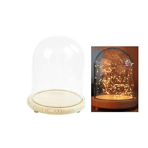Warmiehomy Campana de Vidrio Decoracion, Campana de Cristal Decorativa con Base de...