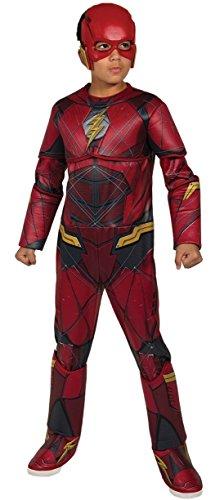 DC – gerechtelijke League Movie Kostuum Flash Premium kinderen, S (Rubies Spain 630977-s)