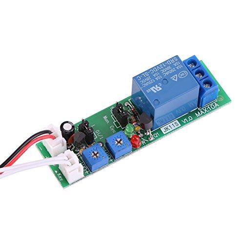 1pc DC 12V / 24V einstellbare Zykluszeiten Switch Module Delay On/Off Timer Verzögerung Switch-Modul 6 Typen Optional(DC 12V 0-24 Stunden einstellbar)