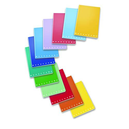 Margine A4 Tinta Unita Monocolore 10 Pezzi Maxi Quaderno a Quadretti Q 0,5 mm