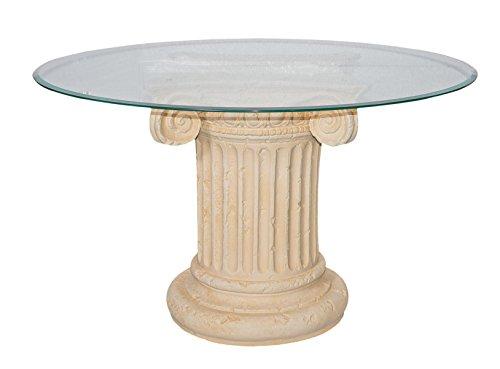 AWD Runder Glastisch Esstisch Tafeltisch Küchentisch Säulentisch