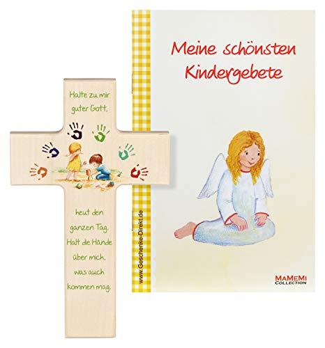 MaMeMi Kinder- Holzkreuz: 'Gott beschütze Mich' 15 cm