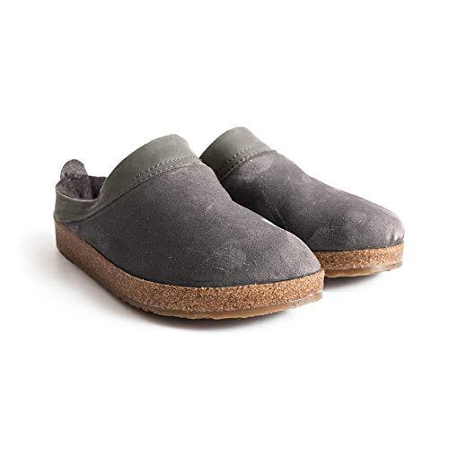 Haflinger Women's SC Snowbird clogs-and-mules-shoes, Slate, 6